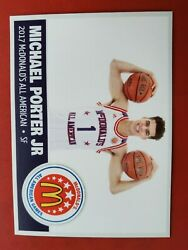 MICHAEL PORTER JR. RC Rookie Card #32 High school card McDonald's All-American