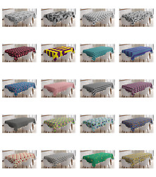 Ambesonne Geometric Shapes Tablecloth Table Cover for Dining Room Kitchen $30.99