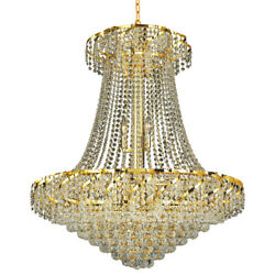 MADE WITH SWAROVSKI CRYSTAL CHANDELIER FOYER DINING ROOM FIXTURES 18 LIGHT 38
