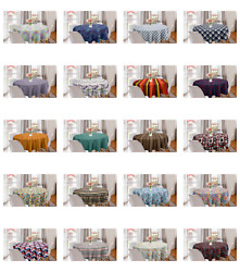 Ambesonne Abstarct Shape Round Tablecloth Table Cover for Dining Room Kitchen $27.99