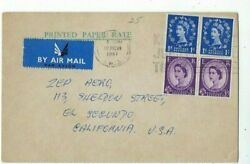 London Great Britain Airmail Printed Paper Rate Commercial Post Card to U.S.