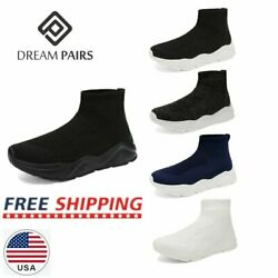 DREAM PAIRS Men's Knit High Top Sock Sneakers Casual Running Walking Shoes $25.64