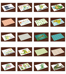 Ambesonne Place Mats Set of 4 Fabric Placemats for Dining Room Kitchen $16.90