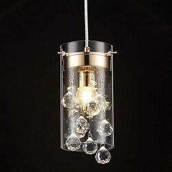 Crystal Pendant Hanging Light Fixture Glass Chandelier Mini Kitchen Island New  $49.75