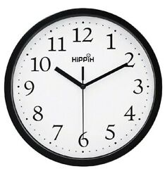 Hippih Silent Black Wall Non Ticking 10quot; Clock $23.40
