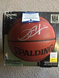 GRANT HILL signed NBA Basketball Spalding Ball Detroit Pistons Orlando Magic BGS $99.00