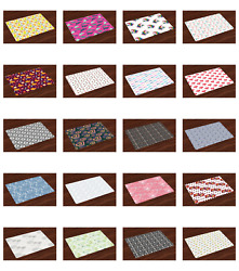 Ambesonne Place Mats Set of 4 No Wrinkle for Dining and Kitchen Table $16.90