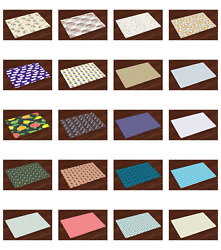 Ambesonne Placemats Set of 4 No Wrinkle for Dining and Kitchen Table $16.90