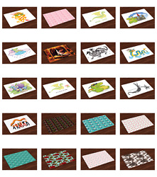 Ambesonne Place Mats 4 pcs Set Fabric Placemats Dining Room and Kitchen Table $16.90