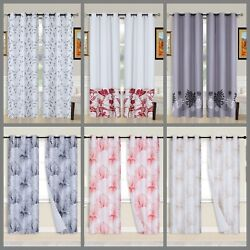 2PC Printed Blackout Window Curtains Bedroom Living Room White Lined Fabric 84 $10.20