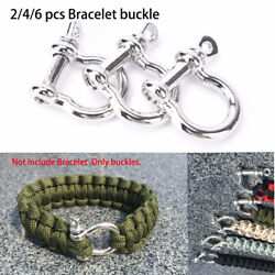accessories O-Shaped Shackle Buckle Survival Rope Paracords Bracelet Buckles