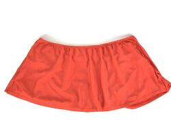 Catalina Swimwear Plus Size Skirted Bathing Suit Bottoms 3X Red *flaw $9.90