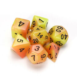 7 Pcs Luminous Polyhedral Dices Multisided Dices Dice Set With Dice Cup For Rpg $9.99