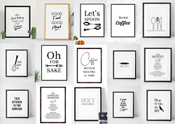 Kitchen prints wall art kitchen decor funny quote choose your design GBP 4.99