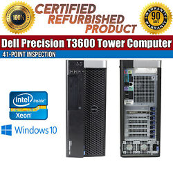 Dell Precision T3600 Tower Intel Xeon 8GB RAM 1TB HDD Win 10 NVIDIA Quadro 2000