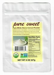 PURE ORGANIC STEVIA EXTRACT POWDER 1 TO 16 OZ NO FILLERS MICRO SCOOP INCLUDED $16.99