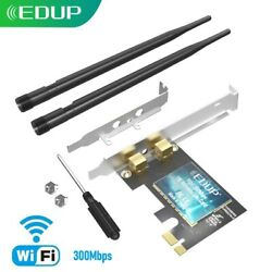 EDUP 300Mbps PCI E WiFi Card for PC Desktop 802.11n Wireless Adapter US Stock $11.59