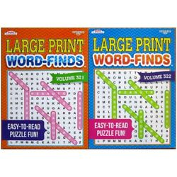 Lot of 2 Large Print Word Search Find Hunt Puzzle Books