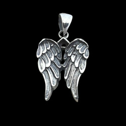 Small Angel Wings Pendant 925 Sterling Silver Charm  $10.99
