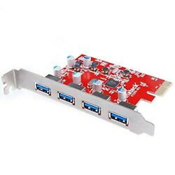 Inateck 4 Ports PCI E to USB 3.0 Express Card Compatible Mac Pro Early 2008 to $37.09