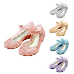 Kids Girls Princess Cosplay Fancy Dress Party Beach Sandals Jelly Shoes Size NEW $15.19
