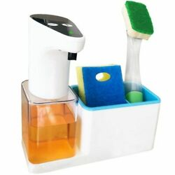 Automatic Kitchen Soap Dispenser With Sponge Holder Touchless Pump Technology $38.07
