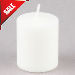 144 PACK CASE 15 Hour White Candle Table Votive Unscented Wax Survival Emergency $112.40