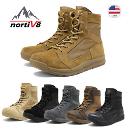 NORTIV 8 Men#x27;s Military Tactical Combat Army Boots Lightweight Hiking Work Boots $40.79