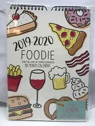 2019 2020 Foodie 18 Month Calendar For The Love Of Yummy Goodness Food Donuts $10.98