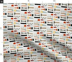 Tools Supplies Handyman Construction Fabric Printed by Spoonflower BTY $35.00