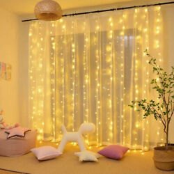 300LED10ft Curtain Fairy Hanging String Lights Wedding Valentine's Day Decor $11.69