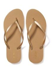 NWT Ladies FLIP FLOPS Old Navy Thong Sandals Size 9 white or gold  NEW $4.99