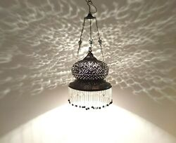 BR423 Antique Reproduction Handmade Egyptian Brass Hanging Lampshade $95.00