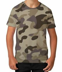 Camouflage Outdoors Army Soldier Novelty Boys Kids Child T Shirt Ages 3 12 $13.97