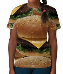Cheese Burger Fast Food Lover BBQ Novelty Girls Unisex Kids Child T Shirt 3 12 $13.97