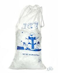 Alpine Industries 10 amp; 20 lb Commercial Ice Bag Bags w Cotton Drawstring $36.00