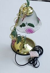Vintage Gold Bell Flower Grapes Vine Sensor Touch Table Lamp 3-Way 14