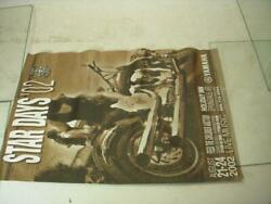 2002 YAMAHA STAR DAYS FEED THE CHILDREN MOTORCYCLE POSTER USED PO 296 $14.99