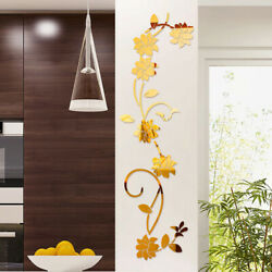 3D DIY Flower Shaped Wall Stickers Acrylic Mural Modern Stickers Decor Decals C $10.52