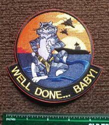 USN NAVY: F-14 TOMCAT PATCH FIGHER JET WELL DONE MILITARY PLANE PATCH $7.22