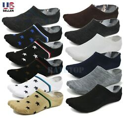 Lot 6-Pack Mens Low Cut No Show Socks Invisible Loafer Boat Ankle Cotton 10-13 $7.99