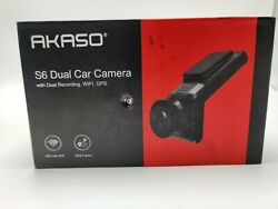 Akaso S6 Dual Car Camera Wifi GPS Read description for parts not working $34.95