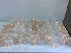 Chandelier Lamp Crystal Parts Lot 46 Pieces $95.00