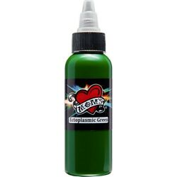 MOMS Tattoo Ink ECTOPLASMIC GREEN Bright Color Individual Bottle 12 1 2 4 oz $8.54