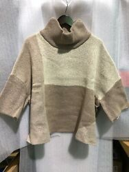 Marla Wynne Color Block Cropped Sweater Black Latte and Charcoal NWT DD3 $15.00