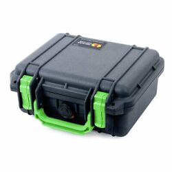 Black & Lime Green Pelican 1200 Case with Foam. $66.00