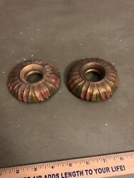 Antique Parts Art Light Fixture Parts Art Socket Decorations Pair JF $25.00