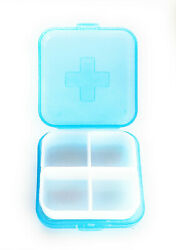 Pocket Size Pill Box Organizer 4 Compartment Storage Tablet Medicine Container  $7.99