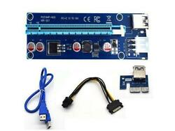 PCI E Riser Version 007 6 PIN 1X t0 16X card with USB extension cable $6.99