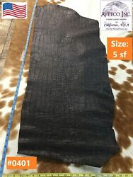 Avetco Top Grade Crocco Embossed Novelty Cow Leather Cafe 2.5oz Choose your hide $35.95